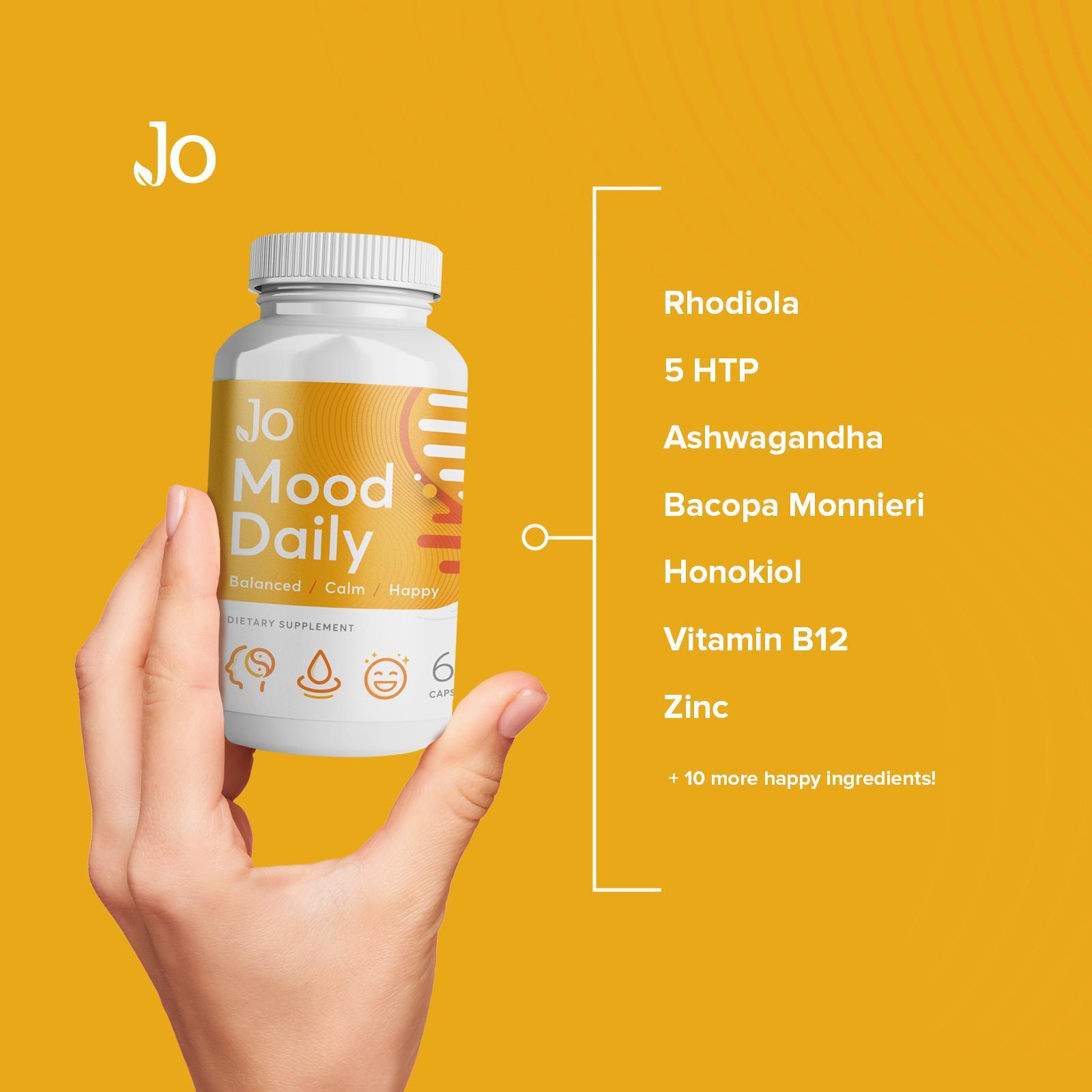 Rhodiola and ashwagandha supplement
